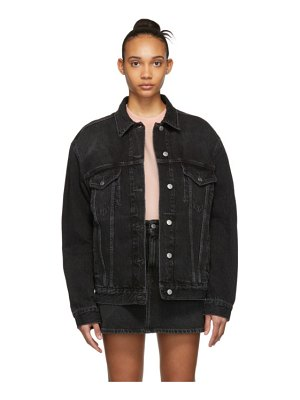 Acne Studios black bla konst denim 2000 jacket