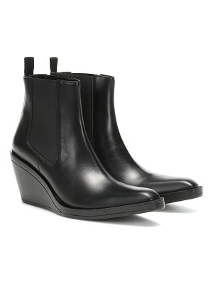 Acne Studios bleeker leather wedge ankle boots