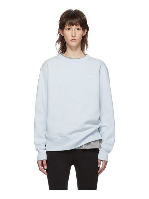 Acne Studios blue fairview face sweatshirt