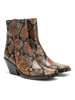 Acne Studios braxton viper leather ankle boots
