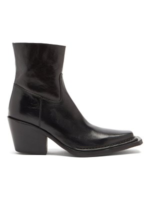 Acne Studios bruna cuban-heel polished-leather boots