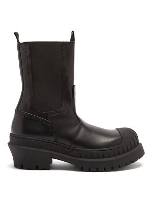 Acne Studios bryant leather and rubber boots
