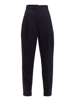 Acne Studios phana buttoned-hem tapered-leg twill trousers