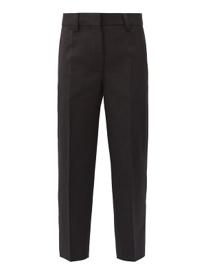 Acne Studios cropped grain-de-poudre tapered trousers