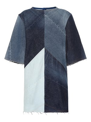 Acne Studios Dylane patchwork denim dress
