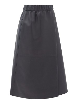 Acne Studios elasticated-waist leather wrap skirt