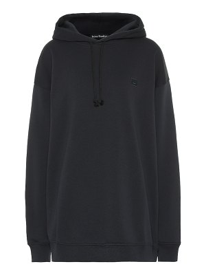 Acne Studios face oversized cotton hoodie