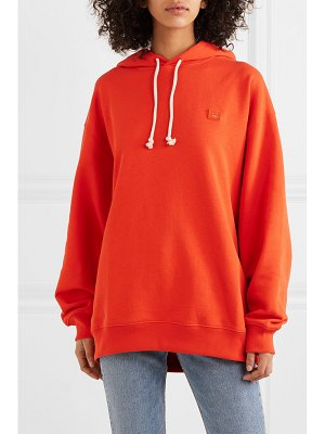 Acne Studios farrin face oversized appliquéd cotton-jersey hoodie