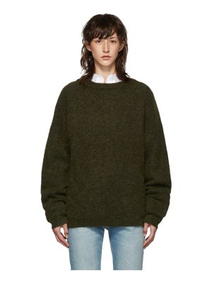 Acne Studios green dramatic mohair sweater