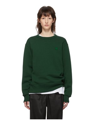 Acne Studios green fairview face sweatshirt