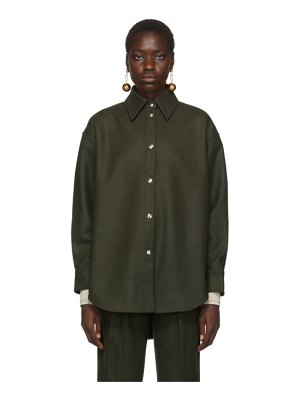 Acne Studios green flannel sarwin shirt