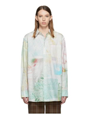Acne Studios green salem face shirt