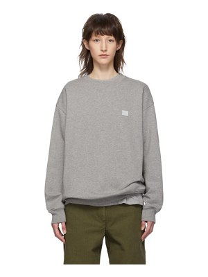 Acne Studios grey oversized forba face sweatshirt