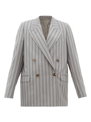 Acne Studios janny double-breasted pinstriped wool jacket