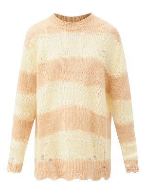 Acne Studios kalia oversized striped knitted sweater