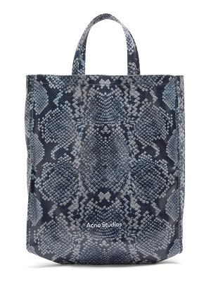 Acne Studios large snake-print cotton-canvas tote bag
