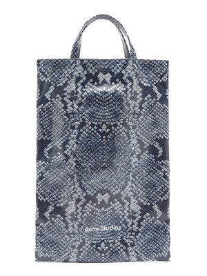 Acne Studios medium snake-print cotton-canvas tote bag