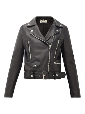Acne Studios mock smooth-leather biker jacket