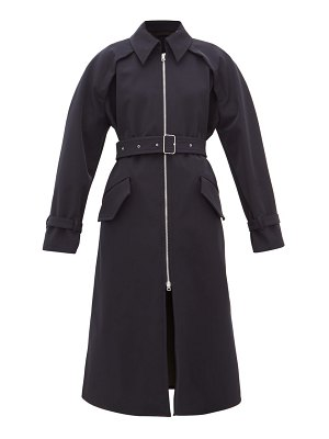 Acne Studios octava zip-up gabardine trench coat