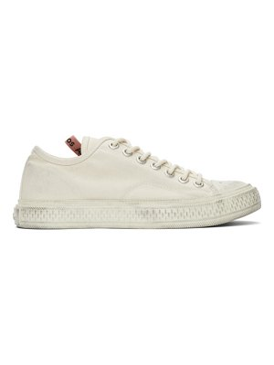 Acne Studios off-white canvas low-top sneakers