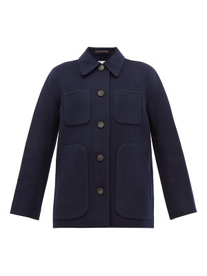 Acne Studios okera single breasted double faced wool coat