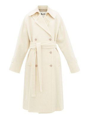 Acne Studios orane wool-twill trench coat