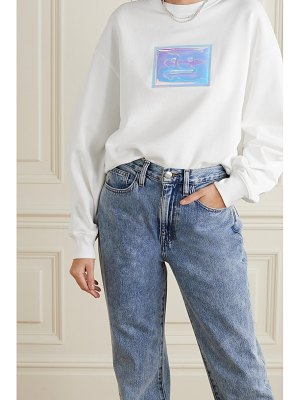 Acne Studios oversized appliquéd organic cotton-jersey sweatshirt