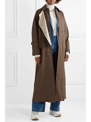 Acne Studios oversized double-breasted linen trench coat