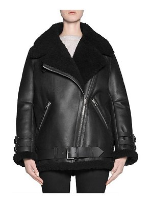 Acne Studios velocite shearling leather jacket