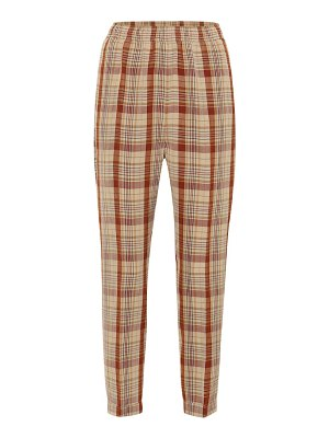 Acne Studios Paige checked linen-blend pants