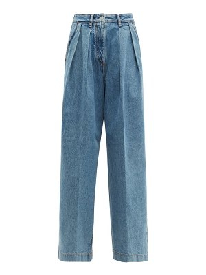 Acne Studios pakita high-rise pleated wide-leg jeans