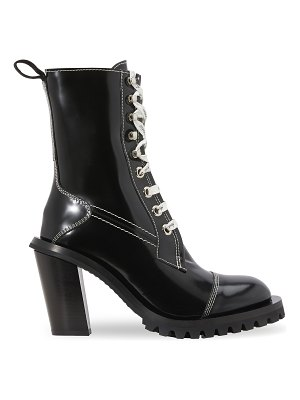 Acne Studios Patent leather lace-up ankle boots