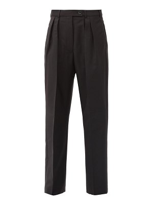 Acne Studios philena pleated wool-blend trousers