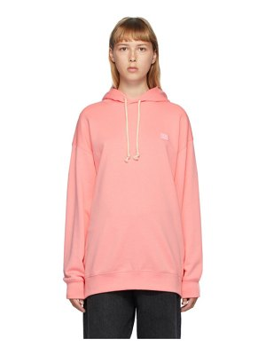 Acne Studios pink oversized patch hoodie