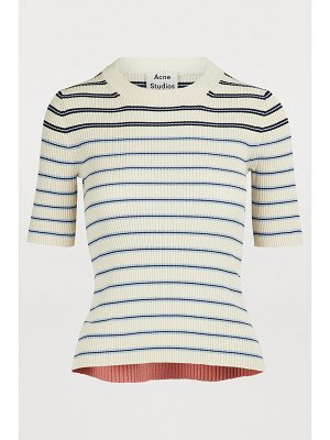 Acne Studios Short-sleeved striped sweater