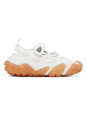 Acne Studios ssense exclusive white and pink velcro sneakers