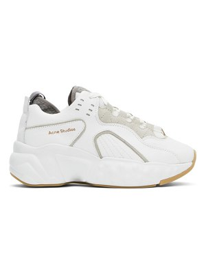 Acne Studios ssense exclusive white nappa manhattan sneakers