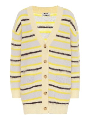 Acne Studios striped wool-blend cardigan