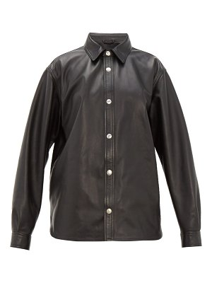 Acne Studios tracey curved hem leather jacket