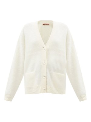 Acne Studios v-neck brushed-knit cardigan
