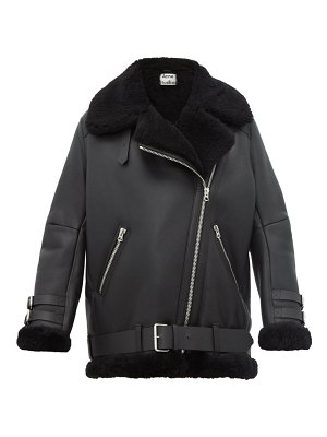 Acne Studios velocite leather and shearling aviator jacket