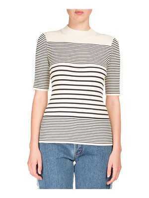 Acne Studios Winne Short-Sleeve Striped Knit Sweater