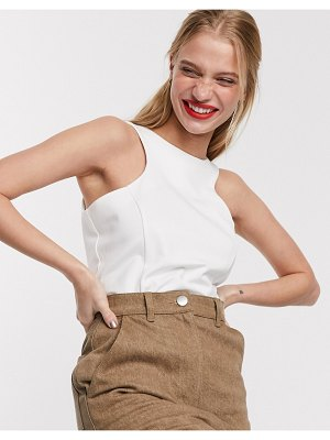 ACOLÉ acole ebony racer top in cream-white