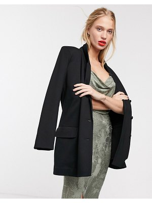 ACOLÉ acole katey double breasted blazer in black