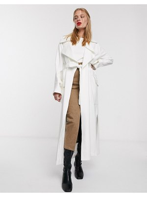 ACOLÉ acole smith trenchcoat in cream-white