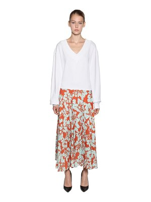 ACT N°1 Pleated skirt w/ cotton sweater dress