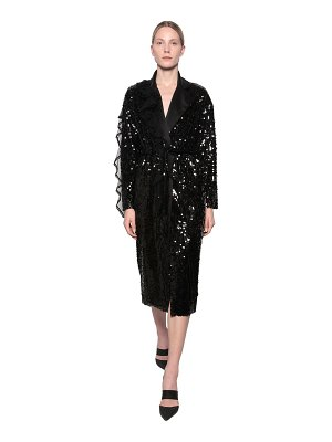 ACT N°1 Straight sequin embellished trench coat