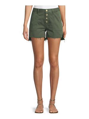 Acynetic Harmony Button-Front Twill Cutoff Shorts