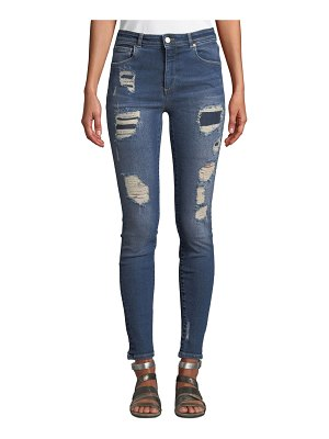 Acynetic Quincy Mica Distressed Skinny Ankle Jeans