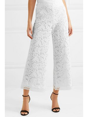 Adam Lippes cropped corded lace wide-leg pants